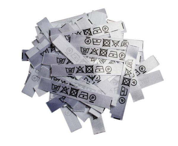 50 Textiletiketten nur mit Pflegesymbole