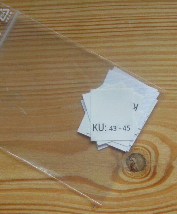 KU: 43 - 45 Kopfumfang-etiketten