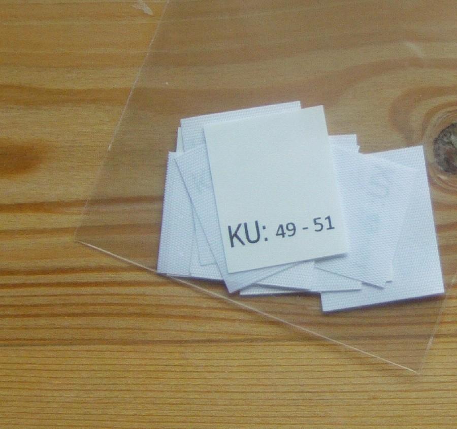 KU: 49 - 51 Kopfumfang-etiketten