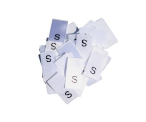 25 Textiletiketten Größe S