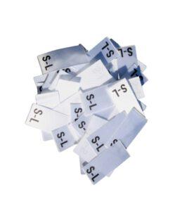 25 Textiletiketten Größe S-L