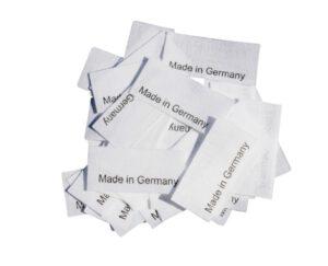 50 Textiletiketten Made in Germany