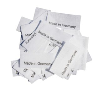 50 Textiletiketten Made in Germany