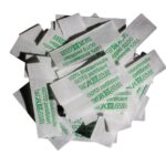 50 Textiletiketten 100% Biobaumwolle - grün