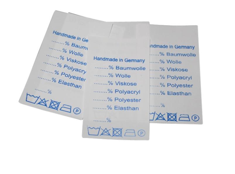 "25 Textiletiketten Universal"" Handmade in Germany"""
