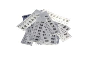 "25 Textiletiketten Universal Kindergrößen"" 50-86"""
