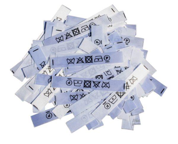 50 Textiletiketten nur mit Pflegesymbolen