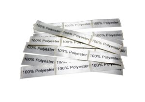 25 selbstklebende Textiletiketten 100% Polyester