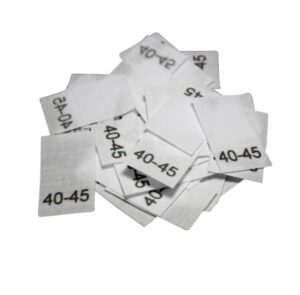 25 Textiletiketten für Mützen - KU 40-45cm