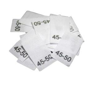25 Textiletiketten für Mützen - KU 45-50cm