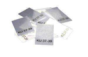 25 Textiletiketten Größe KU: 37-39