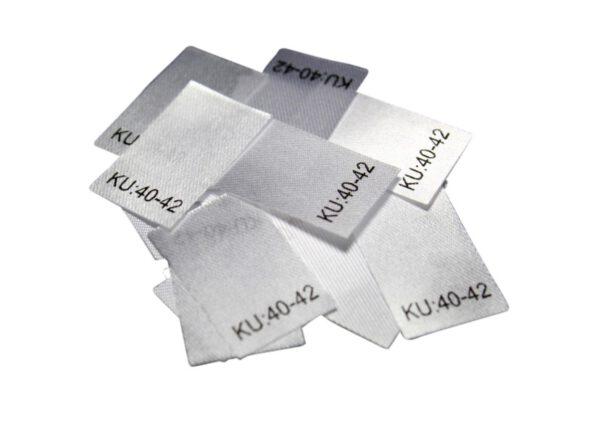 25 Textiletiketten Größe KU: 40-42