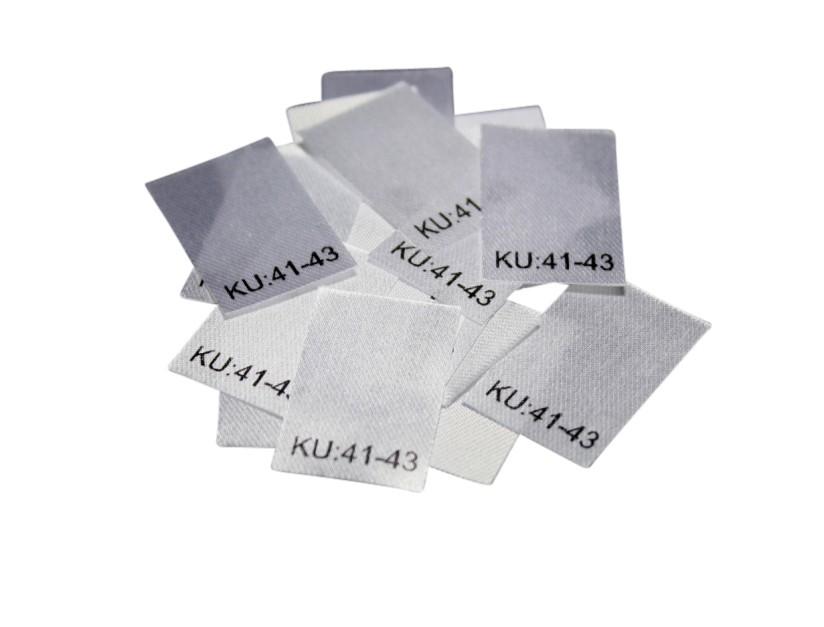 25 Textiletiketten Größe KU: 41-43