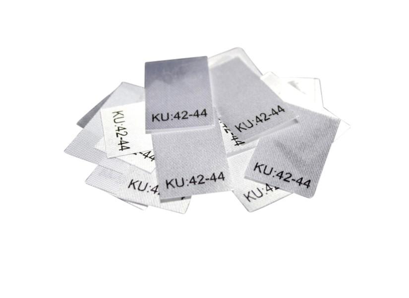 25 Textiletiketten Größe KU: 42-44