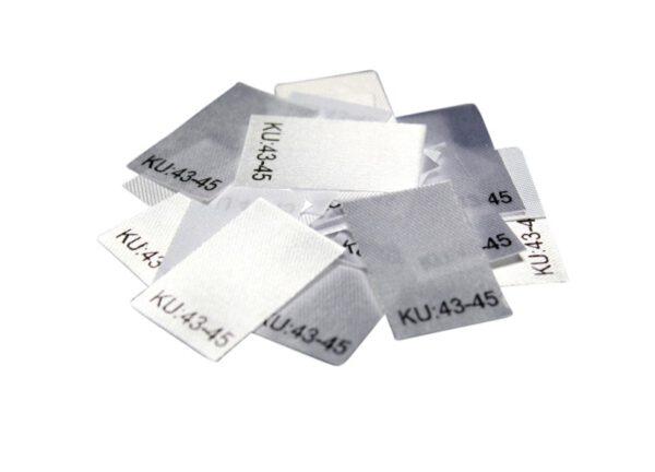 25 Textiletiketten Größe KU: 43-45