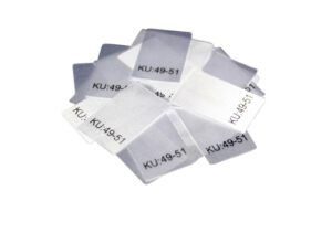 25 Textiletiketten Größe KU: 49-51