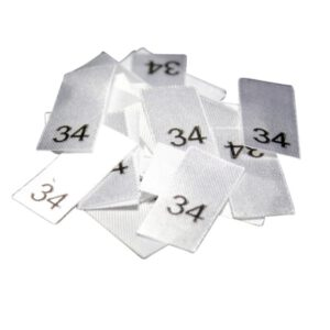 25 Textiletiketten - Größe 34