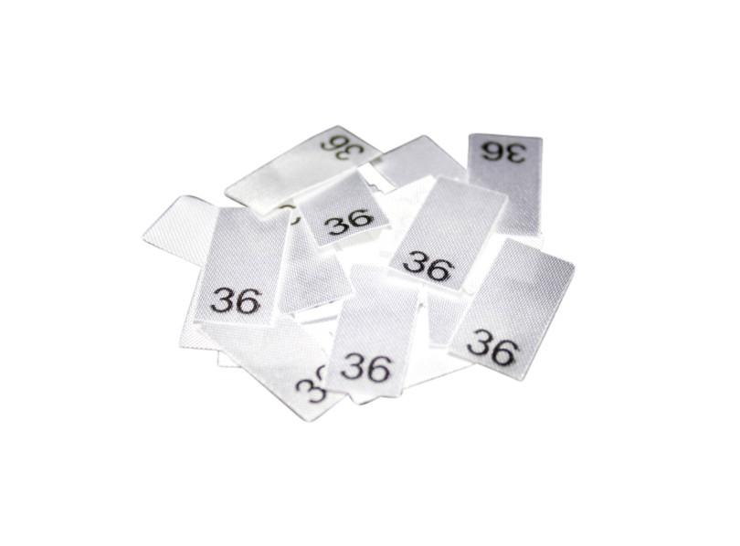 25 Textiletiketten - Größe 36