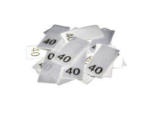 25 Textiletiketten - Größe 40