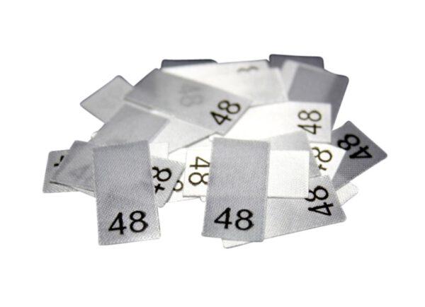 25 Textiletiketten - Größe 48