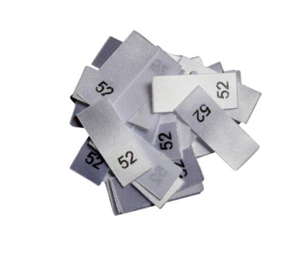 25 Textiletiketten - Größe 52