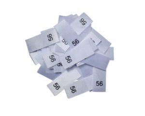 25 Textiletiketten - Größe 56
