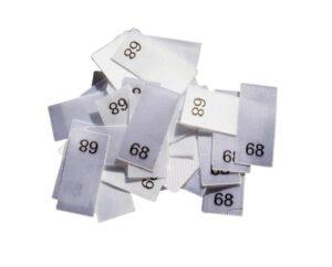 25 Textiletiketten - Größe 68