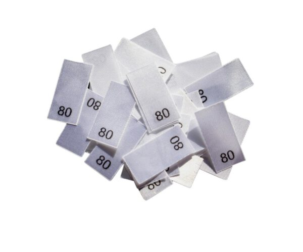 25 Textiletiketten - Größe 80