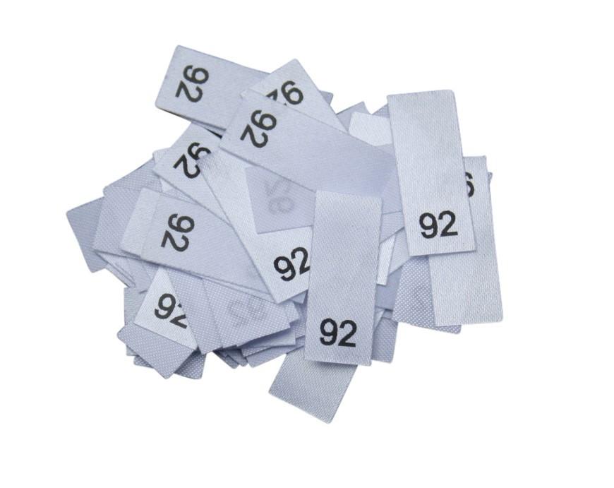 25 Textiletiketten - Größe 92