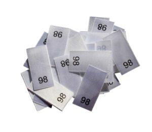 25 Textiletiketten - Größe 98