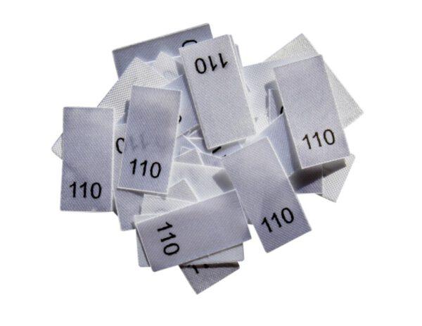 25 Textiletiketten - Größe 110