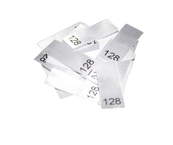 25 Textiletiketten - Größe 128