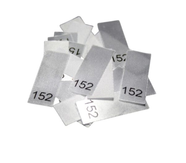 25 Textiletiketten - Größe 152