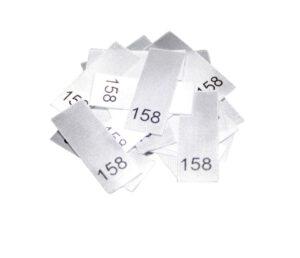 25 Textiletiketten - Größe 158