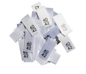 25 Textiletiketten - Größe 40/42