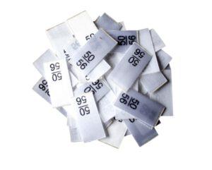 25 Textiletiketten - Größe 50/56