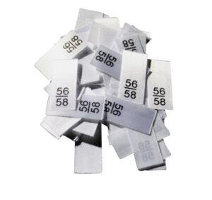25 Textiletiketten - Größe 56/58
