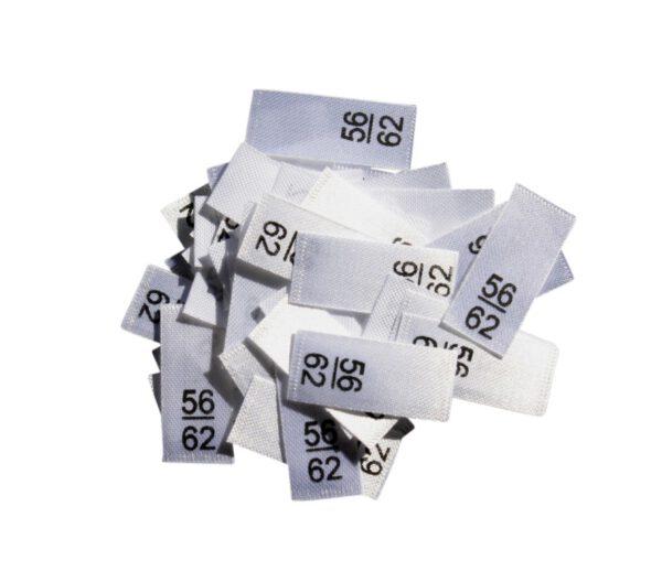 25 Textiletiketten - Größe 56/62