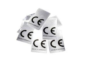 25 Textiletiketten CE - Made in Germany
