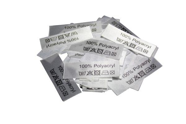 50 Textiletiketten 100% Polyacryl
