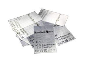 "25 Textiletiketten Universal ""Hand Sewed Quality"""