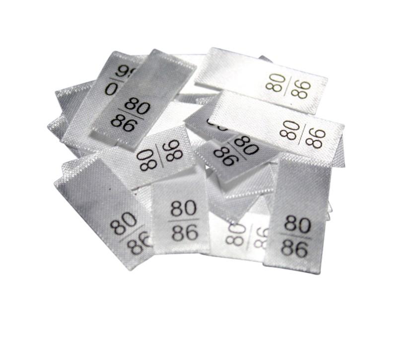 25 Textiletiketten - Größe 80/86