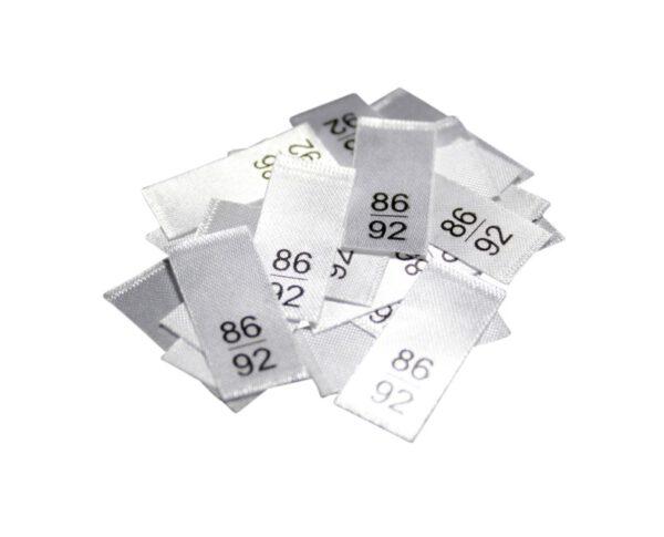 25 Textiletiketten - Größe 86/92