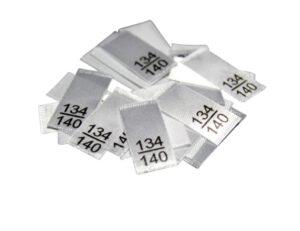 25 Textiletiketten - Größe 134/140