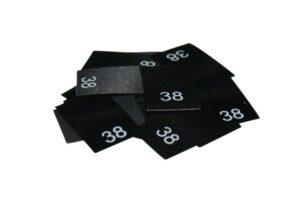 25 Textiletiketten - Größe 38