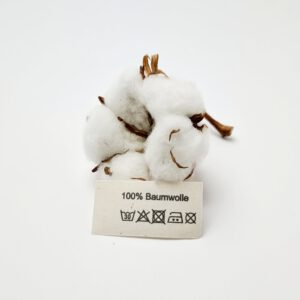 Bio-Baumwoll Etiketten mit Aufdruck 100% Baumwolle